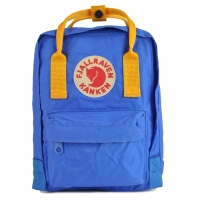 Рюкзак Fjallraven Kanken Mini UN Blue + Warm Yellow