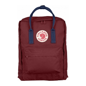 Рюкзак Fjallraven Kanken Classic Red Ox + Navi Blue Handle