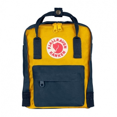 Рюкзак Fjallraven Kanken Mini Yellow + Royal Blue