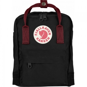 Рюкзак Fjallraven Kanken Mini Black + Red Ox